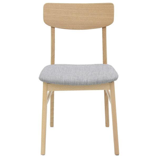 ◎(OUTLET)餐椅兩件組 FILLN3 LBR / GY 45cm 福利品 NITORI宜得利家居 1