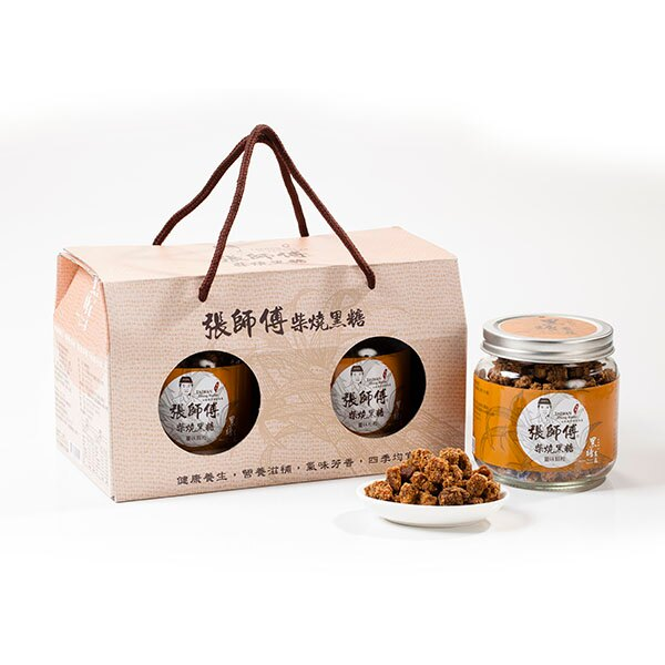 薑味手工黑糖(罐裝/顆粒二罐入)伴手禮盒-黑糖農莊張師傅手工柴燒黑糖