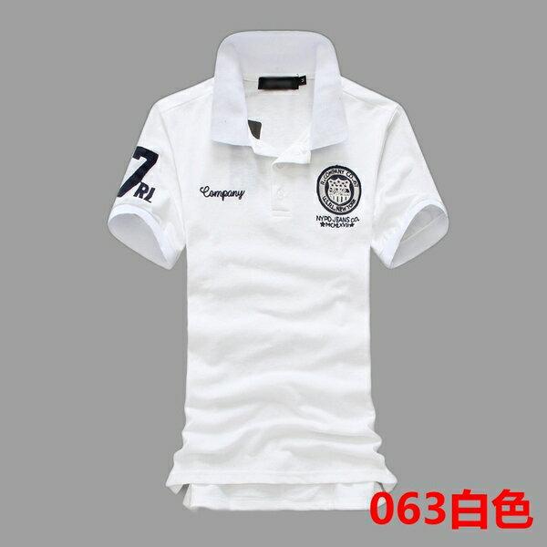韓國立領盾牌刺繡 POLO衫(現貨+預購)