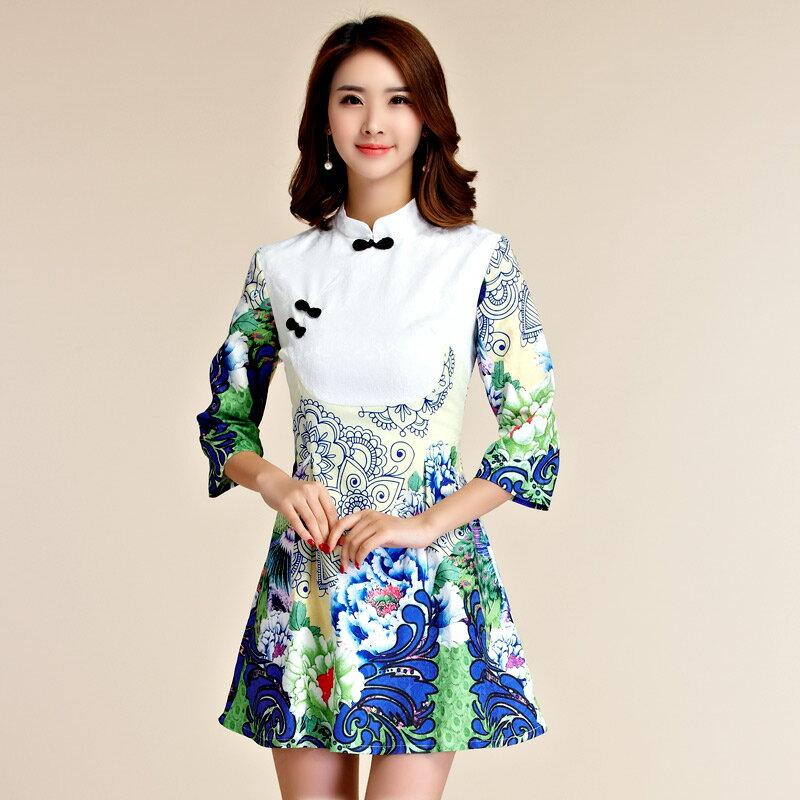 天使嫁衣【J2K9955】中大尺碼優雅顯瘦中袖改良式旗袍短禮服˙預購訂製款+現貨
