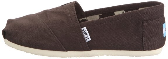 【TOMS】可可色素面基本款休閒鞋  Chocolate Canvas Women's Classics 3