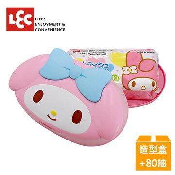 日本【LEC】Melody美樂蒂純水99.9%盒裝濕紙巾(造型外盒+80抽x1包)