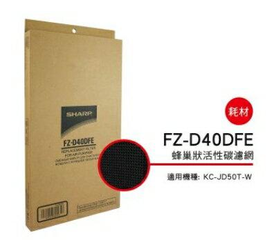 預購商品 要等SHARP 夏普蜂巢狀活性碳濾網 FZ-D40DFE 適用機種型號:KC-JD50T-W