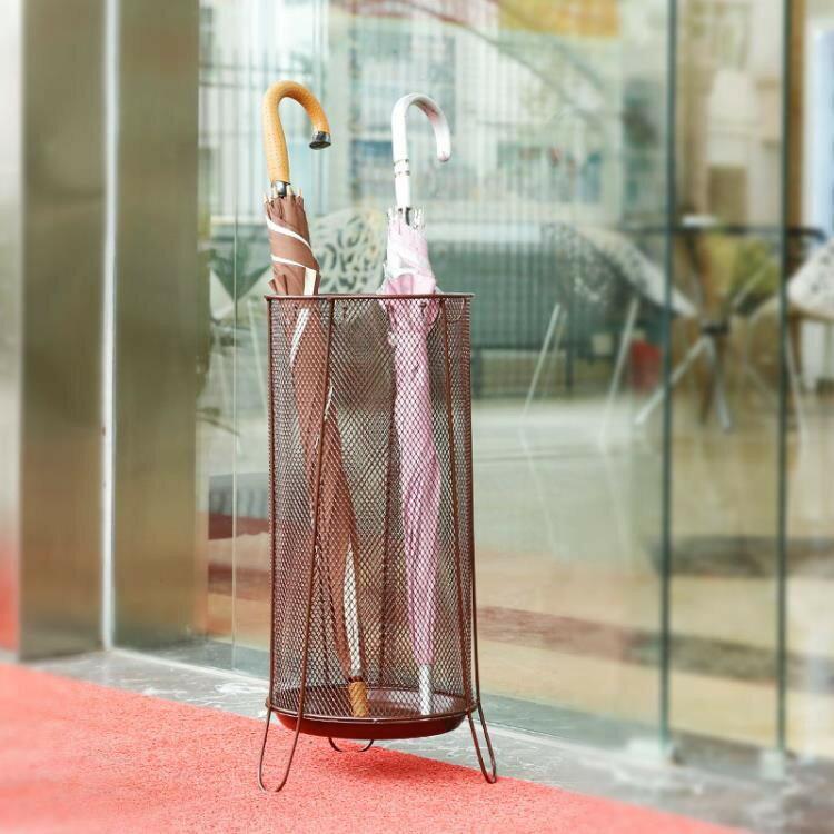 店長推薦家用雨傘架酒店雨傘桶大廳折傘商店創意雨具收納歐式傘架圓形