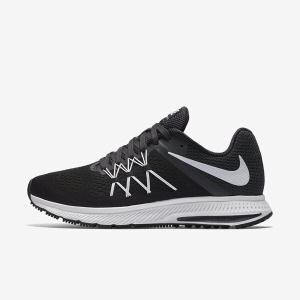 NIKE WMNS AIR ZOOM WINFLO 3 女鞋 慢跑鞋 飛線 黑白 【運動世界】 831562-001