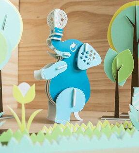 幸福森林:幸福森林.兒童立體彩色拼圖頂球小象