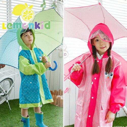 Lemonkid◆兒童卡通貓頭鷹小眼睛直桿型雨傘