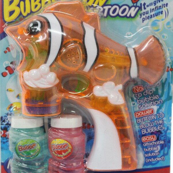 透明 小丑魚泡泡槍 音樂聲光(附電池)/一支入{促150} 自動泡泡槍+泡泡水~CF102859