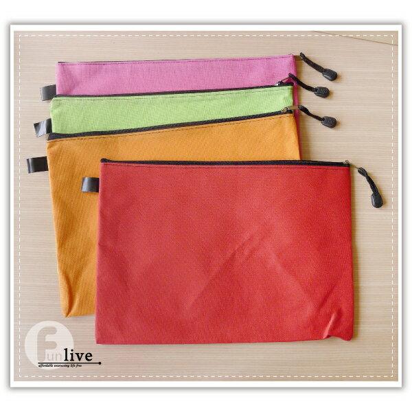 【aife life】無印帆布A4文件收納袋/A4牛津布文件袋/拉鍊文件袋/夾鏈袋/文件袋/資料夾