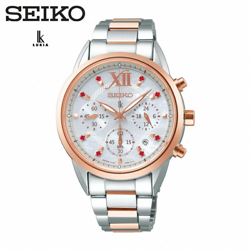 SEIKO LUKIA 新款上市 時尚太陽能腕錶 V175-0EW0G(SSC824J1) 半玫瑰金限量款