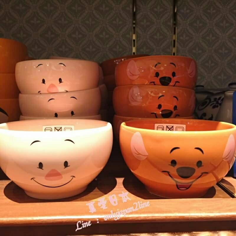 【真愛日本】16101000022日本製樂園限定小湯碗-小豬大臉   迪士尼 維尼家族 POOH  樂園限定 馬克杯 杯子