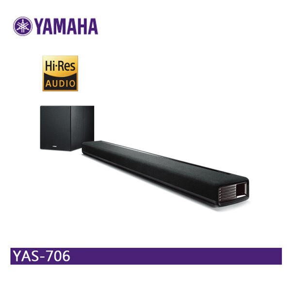 【免運】YAMAHA 山葉 YAS-706 聲霸 Soundbar 前置環繞 家庭劇院 無線音響 藍芽喇叭 藍牙喇叭 公司貨