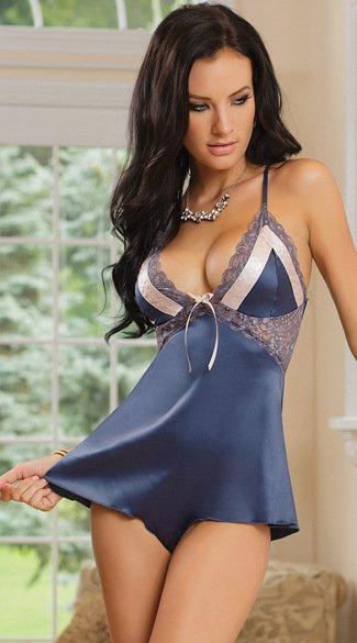 歐美時尚情趣內衣 性感細肩帶套裝蕾絲誘惑美背綁帶連身衣睡衣 4457