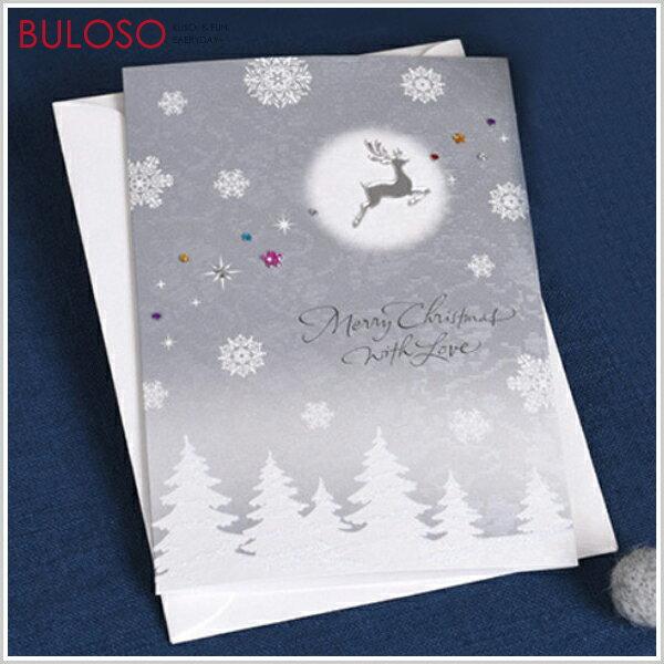 《不囉唆》銀妝貼件聖誕卡賀卡卡片節日祝福(不挑色款)【A427818】
