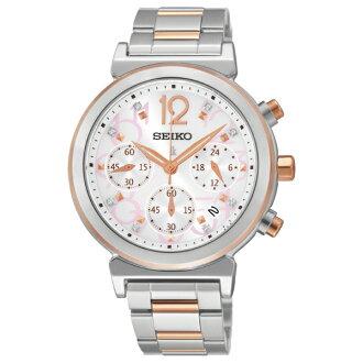 Seiko Lukia V175-0AJ0KS(SSC884J1)真鑽俏麗太陽能計時腕錶/白面35mm