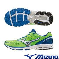 慢跑_路跑周邊商品推薦到J1GA163503(螢光綠X銀)提升速度訓練!WAVE AERO 15 男慢跑鞋 A【美津濃MIZUNO】