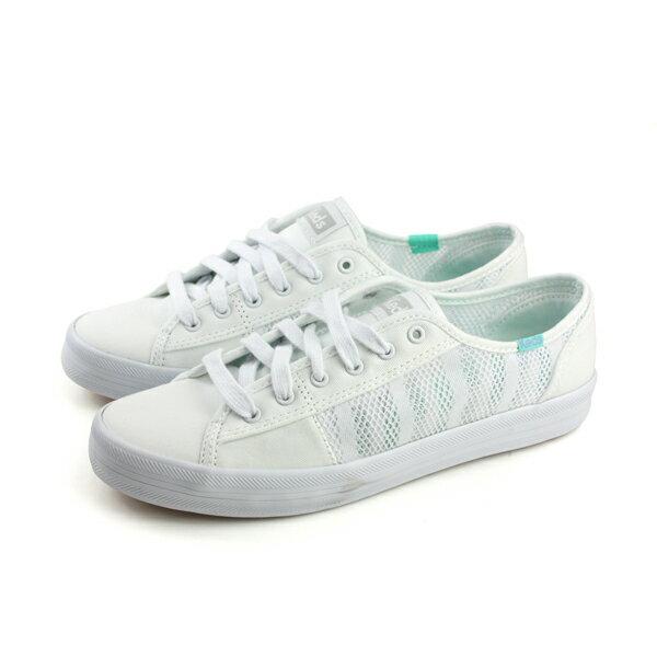 KedsKICKSTARTSTRIPEDMESH帆布鞋休閒網布白女鞋9181W132440no280