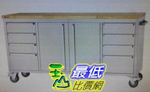 [COSCO代購]W1900526Trinity72吋滑輪不鏽鋼工作檯