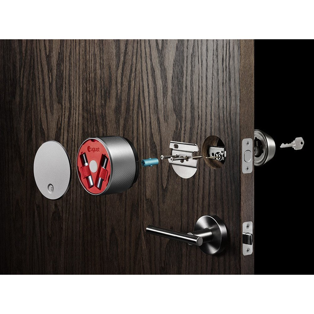 August Smart Lock - Red 1st Generation - WiFi or Bluetooth Keyless Entry 1