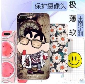 蘋果iPhone78plus飄飄TPU彩繪手機殼