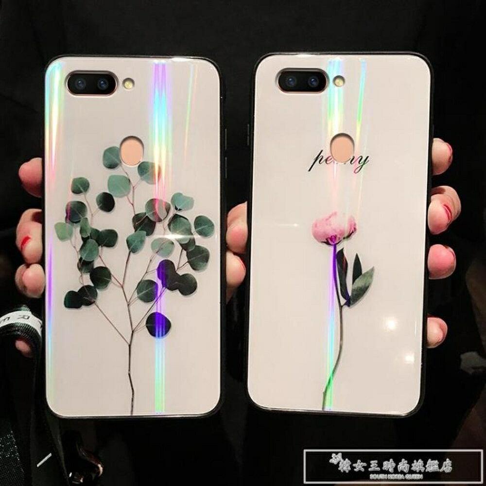 oppor9s手機殼oppor15女款oppo r11清新r15夢境版r11s炫彩r9玻璃r17殼『韓女王』