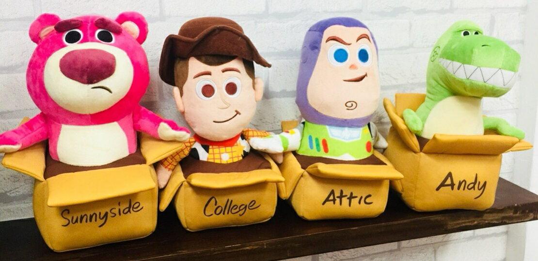 日貨 玩具總動員 迪士尼 玩偶 玩具 兒童玩具 抱枕 巴斯光年 三眼怪 胡迪 抱抱龍 正版 T00120536