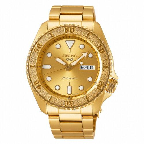 SEIKO 5 sport運動潮流機械腕錶/金色4R36-08E0G(SRPE74K1)