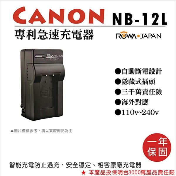 攝彩@樂華佳能NB-12L專利快速充電器NB12L副廠1年保固G1XMarkIIN100M2