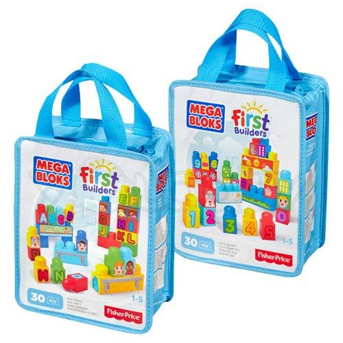 【奇買親子購物網】MEGA BLOKS-美高30片積木袋/隨機出貨(字母積木/數字積木)