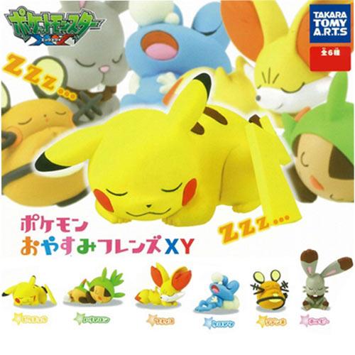 全套6款【日本進口】皮卡丘 神奇寶貝XY 睡夢篇 第一彈 P1 扭蛋 寶可夢 TAKARA TOMY - 802287