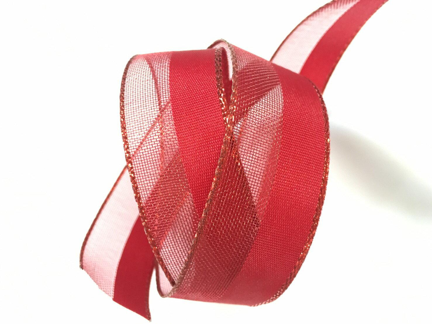 聖誕雙色鐵絲帶 3碼裝 2款 (5色) 2