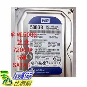 [106玉山最低比價網] 500G 臺式電腦硬碟 7200轉16M 單碟 SATA3 WD5000AAKX