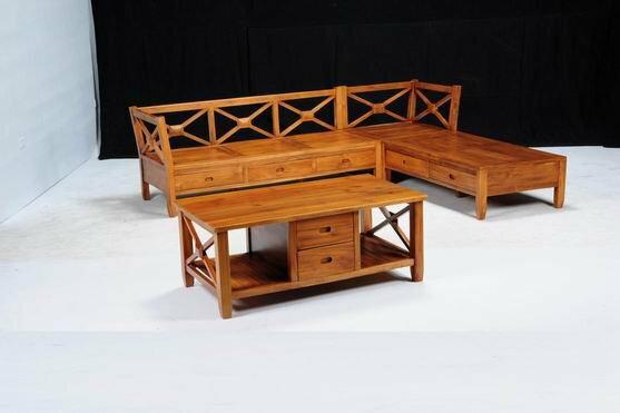 【石川家居】KL-18柚木L型XO組椅台中以北搭配車趟免運費