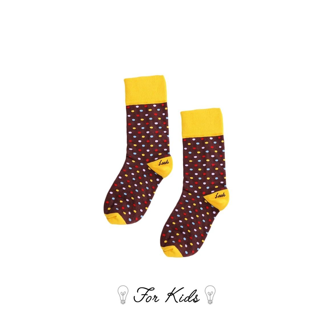 Leeds weather【英國設計】天然純棉孩童襪子★點點造型水果襪子【Cotton Socks Recommendations】- Swiss Chocolate ( International Dots Day系列共4款) 皇室孩童御用推薦童襪、可愛時尚穿搭、好看舒適又透氣