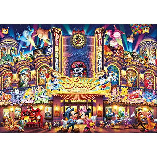 【預購】日本進口正版 米奇 米妮 透明壓克力材質 500片拼圖 迪士尼 夢幻劇場 彩色玻璃  迪斯尼 日本【星野日本玩具】
