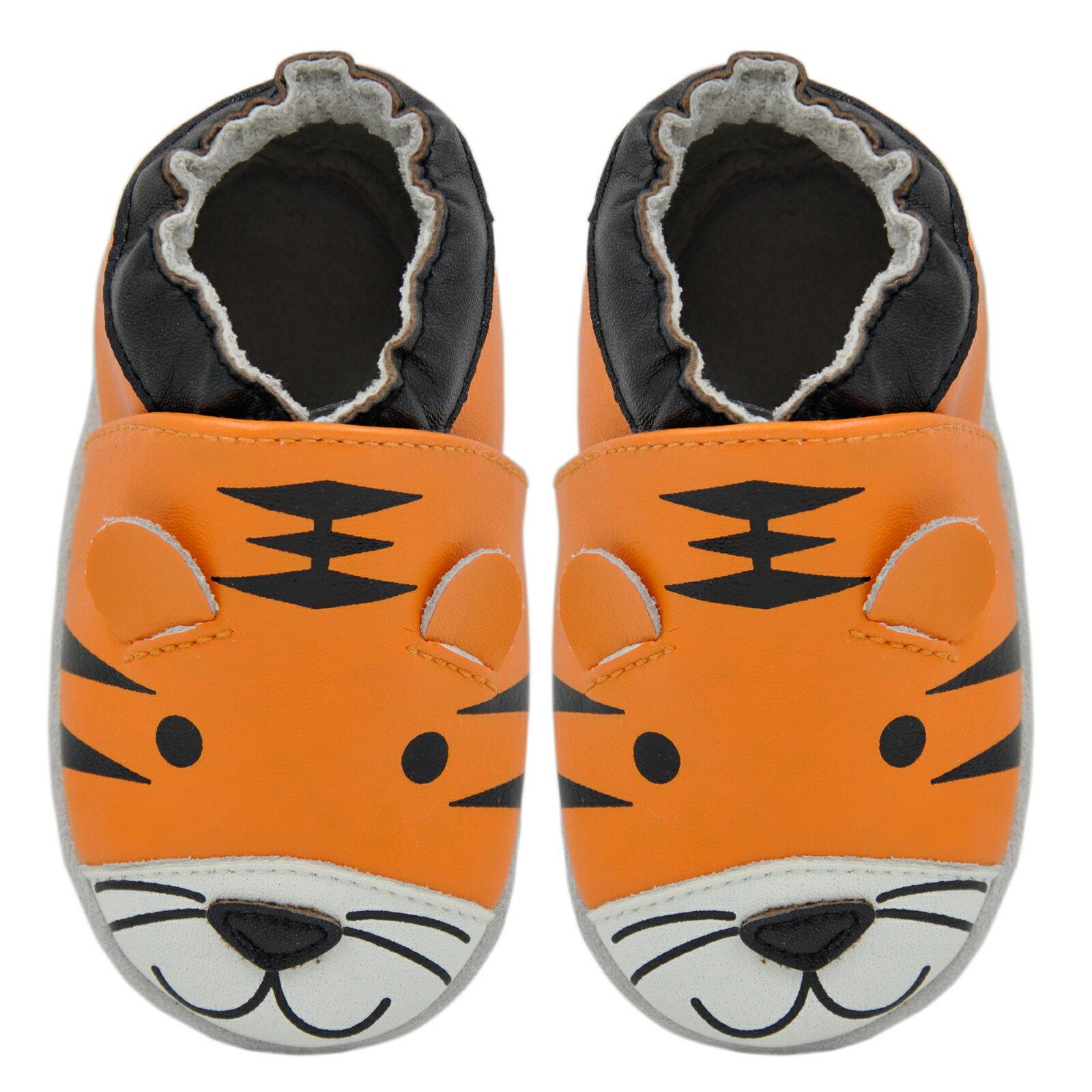 3ef2971b017c1 Kimi + Kai Baby Soft Sole Leather Crib Shoes - Tiger