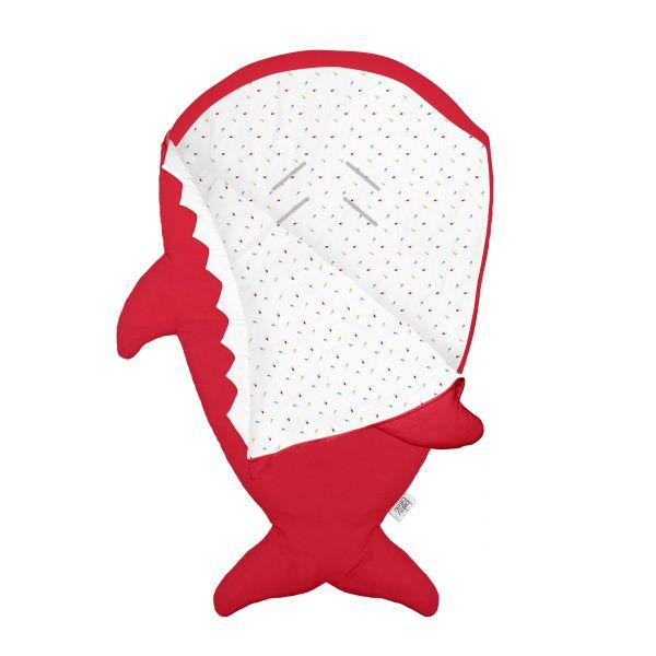 BabyBites 西班牙鯊魚咬一口 嬰兒睡袋(標準版) / 喜氣紅 1