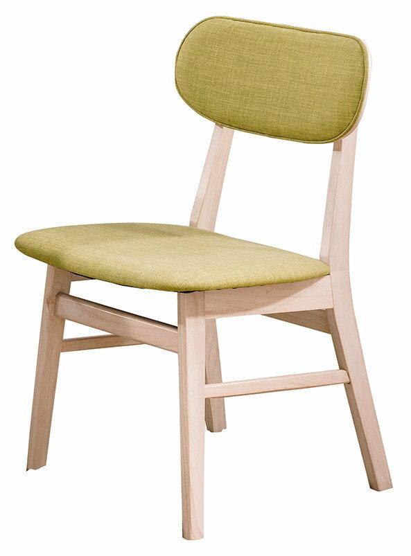 ~石川家居~CE~451~08 凱夫原木洗白餐椅_綠色布  不含餐桌與
