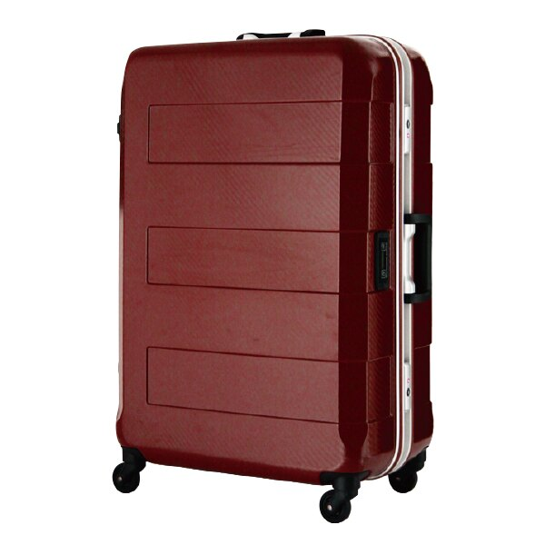 日本 LEGEND WALKER 6021-70-29吋 電子秤鋁框輕量行李箱 銀紅色