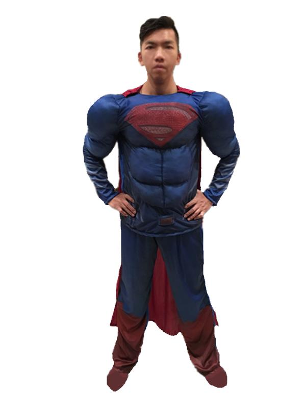 X射線【W370071】超人 肌肉裝(2件式大人),萬聖節服裝/化妝舞會/派對道具/兒童變裝/表演/漫威/DC/cosplay/面具