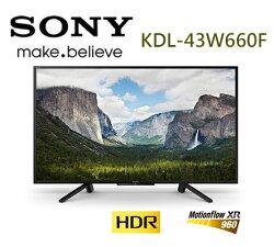 SONY 新力 KDL-43W660F 43吋 HDR 液晶電視 公司貨 (不含安裝)