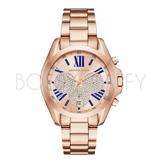 MK6321 MICHAEL KORS 玫瑰金璀鑽羅馬字日期腕錶 手錶