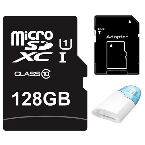 Major OEM 128GB 128G microSDXC UHS-I 70MB/s Class 10 microSD micro SD SDXC Card + USB 2.0 OTG Reader 0