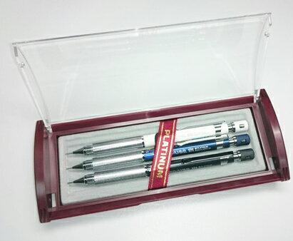 振詮文具房:PLATINUM白金牌PRO-USE171自動鉛筆進化版3支組任選附贈原廠禮盒