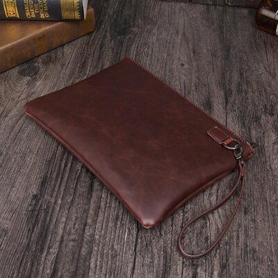 手拿包純色信封包-歐美復古紳士商務男包包73sd49【獨家進口】【米蘭精品】 2