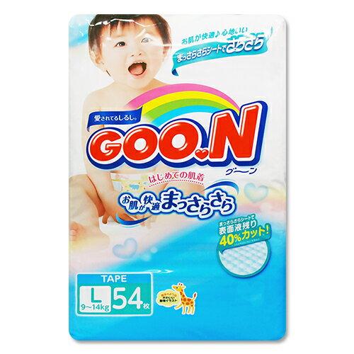 GOO.N日本境內版大王頂級紙尿褲(尿布)L54片*1包409元