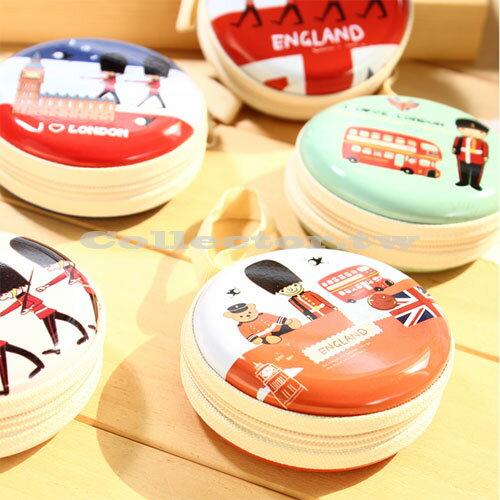 【G14090302】韓國創意英倫風皇家小士兵圓形馬口鐵零錢包 迷你手提鑰匙耳機包