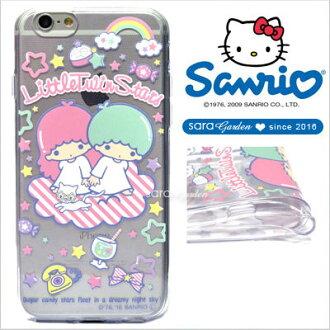 授權 三麗鷗 Sanrio 雙子星 kikilala 浮雕 彩繪 iPhone 6 6S Plus Note5 Z5 Z5P A5 A7 A9 手機殼 軟殼 夢幻雲彩【D0220181】
