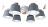燈具燈飾【豪亮燈飾】馬卡龍五號6燈半吸頂燈~吊扇 / 燈泡 / 燈管 / 省電 / LED燈泡 / 燈具 / 白光 / 黃光 / 客廳燈 / 房間燈 / 水晶燈 / 美術燈 / 吸頂燈 / 浴室燈 / 陽台燈 / 吊燈 / 壁燈 / 燈泡 / 崁燈 / 藝術燈 / LOFT工業風 1