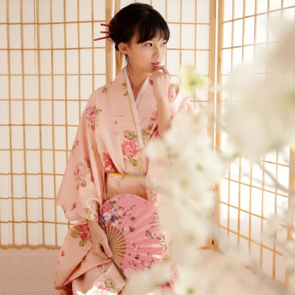 日本和服改良長款浴袍女cos演出服